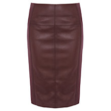 Buy Karen Millen Ponte Roma Skirt, Augergine Online at johnlewis.com