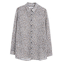 Buy Mango Animal Print Blouse Top, Natural White Online at johnlewis.com