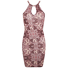 Buy Miss Selfridge Paisley Mini Dress, Burgundy Online at johnlewis.com