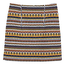 Buy Mango Jacquard Skirt, Dark Yellow Online at johnlewis.com