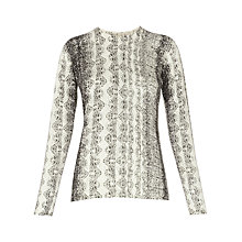 Buy Whistles Snake Print Crew Knit Jumper, Ivory Online at johnlewis.com