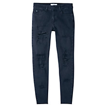 Buy Mango Cropped Skinny Jeans, Open Grey Online at johnlewis.com