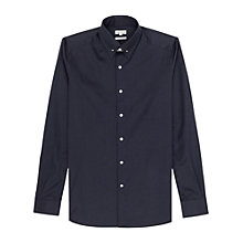 Buy Reiss Belfort Collar Pin Shirt, Navy Online at johnlewis.com