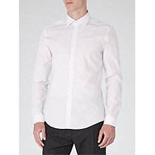 Buy Reiss Bromwich Geometric Print Shirt, White Online at johnlewis.com