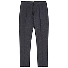 Buy Reiss Riggs Flecked Modern Fit Suit Trousers, Midnight Online at johnlewis.com