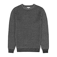 Buy Reiss Bruge Weave Cotton Jumper Online at johnlewis.com