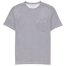 Buy Reiss Wright Stripe T-Shirt, White Online at johnlewis.com