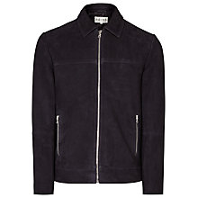 Buy Reiss Murray Suede Collared Jacket, Navy Online at johnlewis.com