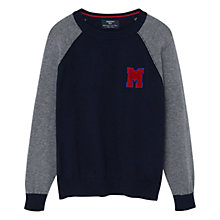 Buy Mango Kids Boys' Monochrome Sweatshirt, Navy Online at johnlewis.com