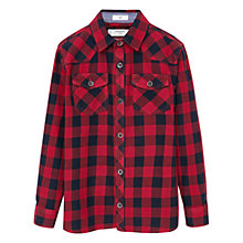 Buy Mango Kids Boys' Check Shirt, Red Online at johnlewis.com
