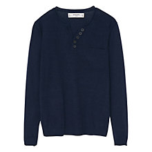 Buy Mango Kids Boys' Knit Sweater, Navy Online at johnlewis.com