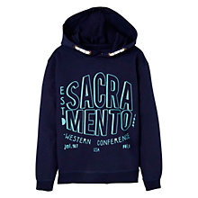 Buy Mango Kids Boys' Sacramento Printed Hoodie, Navy Online at johnlewis.com