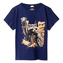 Buy Mango Kids Boys' Marvel Guardians of the Galaxy T-Shirt, Navy Online at johnlewis.com