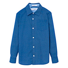 Buy Mango Kids Boy's Mosaic Shirt, Blue Online at johnlewis.com