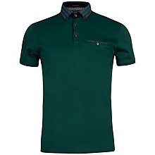 Buy Ted Baker Komma Check Print Collar Polo Shirt Online at johnlewis.com