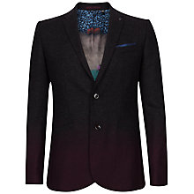 Buy Ted Baker Henders Ombre Blazer, Charcoal Online at johnlewis.com