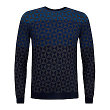 Buy Ted Baker Zano Wool Blend Pattern Jumper, Blue Online at johnlewis.com