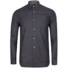Buy Ted Baker Bigidea Micro Dobby Shirt, Black Online at johnlewis.com