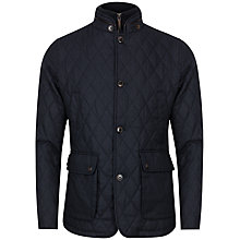 Buy Ted Baker Kirklan Quilted Jacket, Dark Blue Online at johnlewis.com