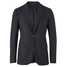 Buy Jigsaw Spot Jacquard Tailored Blazer, Navy Online at johnlewis.com