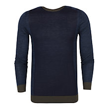 Buy Ted Baker Lewcat Colour Block Wool Jumper, Blue Online at johnlewis.com