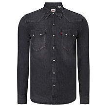 Buy Levi's 1955 Sawtooth Denim Shirt, Dark Grey Online at johnlewis.com