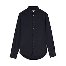Buy Jigsaw Stretch Slim Fit Long Sleeve Shirt, Navy Online at johnlewis.com