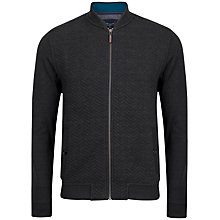 Buy Ted Baker Deeaz Quilted Herringbone Bomber Jacket, Charcoal Online at johnlewis.com
