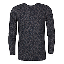 Buy Ted Baker Furlow Floral Print Jersey Jumper, Charcoal Online at johnlewis.com