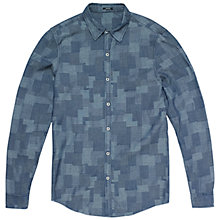Buy Denham Ellis Shirt, Indigo Online at johnlewis.com