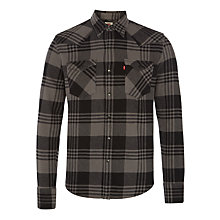 Buy Levi's Barstow Western Plaid Shirt, Eiffel Tower Online at johnlewis.com