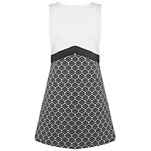 Buy Miss Selfridge Jacquard Shift Dress, Black/White Online at johnlewis.com