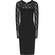 Buy Reiss Bryton Knitted Bodycon Dress, Black Online at johnlewis.com