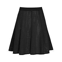 Buy Reiss Sonoma Textured Flared Skirt, Black Online at johnlewis.com
