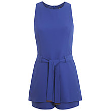 Buy Miss Selfridge Tabbard Belted Playsuit, Bright Blue Online at johnlewis.com