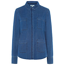 Buy Whistles Double Pocket Shirt, Denim Online at johnlewis.com