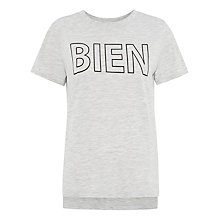 Buy Whistles Bien Motif T-Shirt, Grey Online at johnlewis.com