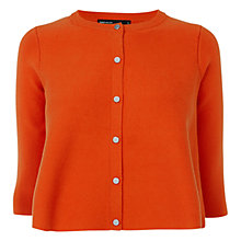 Buy Karen Millen Circle Knit Cardigan, Orange Online at johnlewis.com