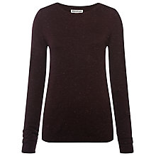 Buy Whistles Annie Sparkle Knit, Burgundy Online at johnlewis.com