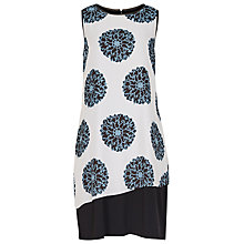 Buy Reiss Clover Layered Drape Dress, Baltic Blue Online at johnlewis.com