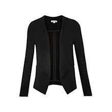Buy Whistles Crepe Jacket, Black Online at johnlewis.com