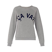 Buy Whistles CA VA Logo Sweatshirt, Grey/Navy Online at johnlewis.com