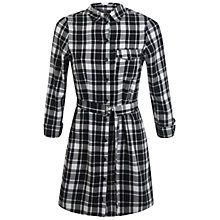 Buy Miss Selfridge Petites Check Shirt Dress, Black/White Online at johnlewis.com