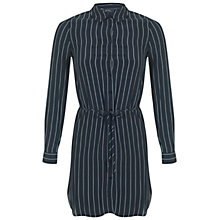 Buy Miss Selfridge Petite Pinstripe Dress, Navy Online at johnlewis.com