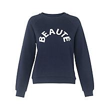 Buy Whistles Beaute Logo Sweatshirt, Navy Online at johnlewis.com