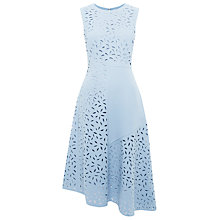 Buy Whistles Cut Out Floral Dress, Pale Blue Online at johnlewis.com