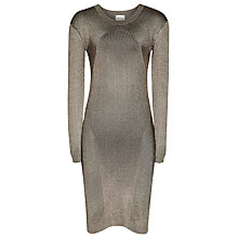Buy Reiss Kalila Knitted Bodycon Dress, Soft Sahara/Black Online at johnlewis.com
