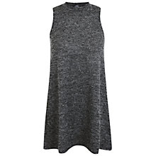 Buy Miss Selfridge Petite Boucle Tunic Dress, Mid Grey Online at johnlewis.com