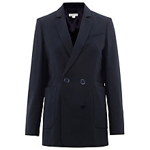 Buy Whistles Drew Double Breasted Jacket, Navy Online at johnlewis.com