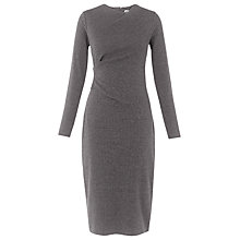 Buy Whistles Drew Pinstripe Bodycon Dress, Grey Online at johnlewis.com